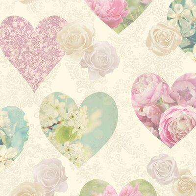 Novelty Hearts Sidewall 10m X 52cm Wallpaper Roll