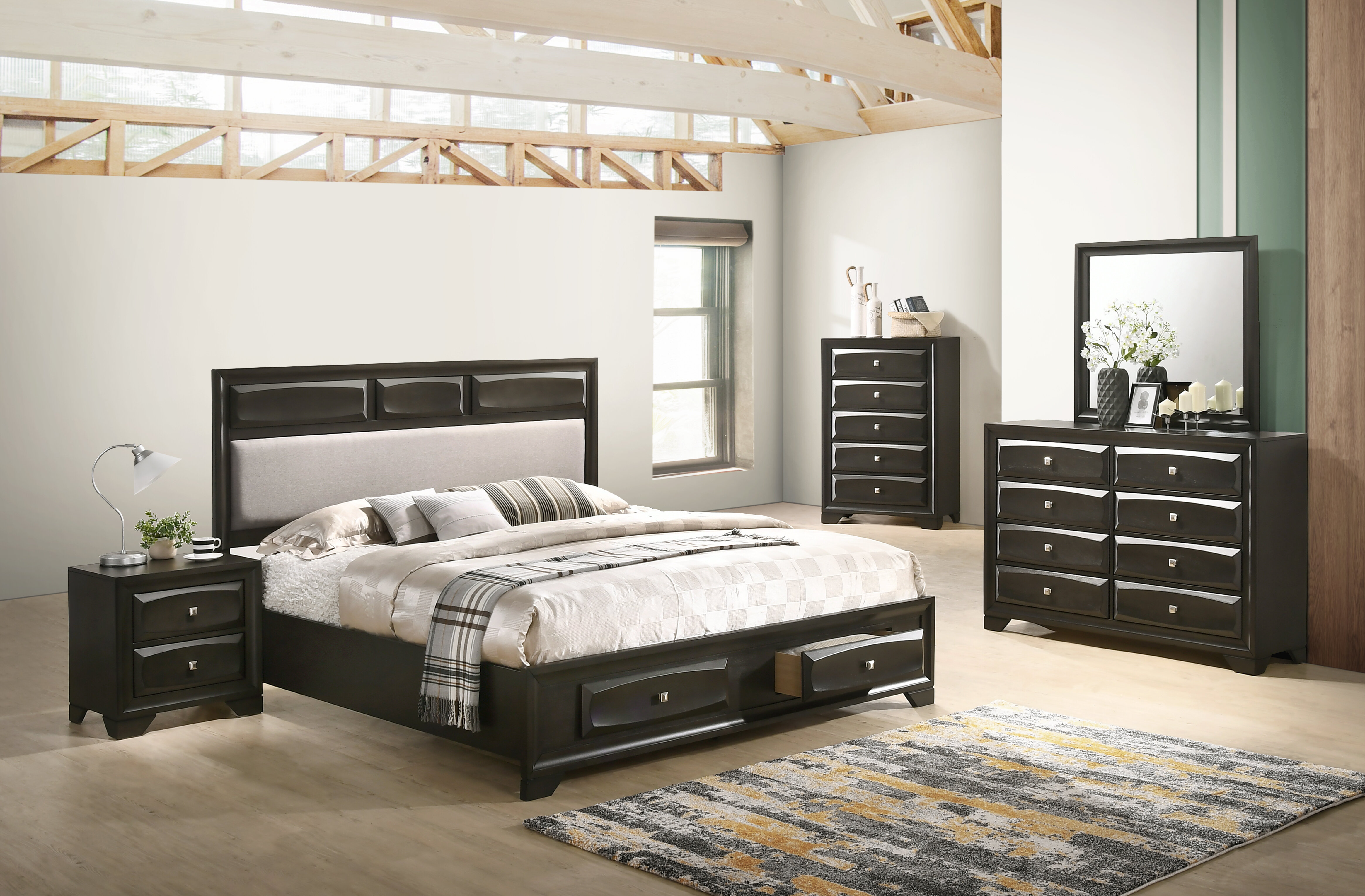 Winston Porter Beagan Platform 5 Piece Bedroom Set | Wayfair