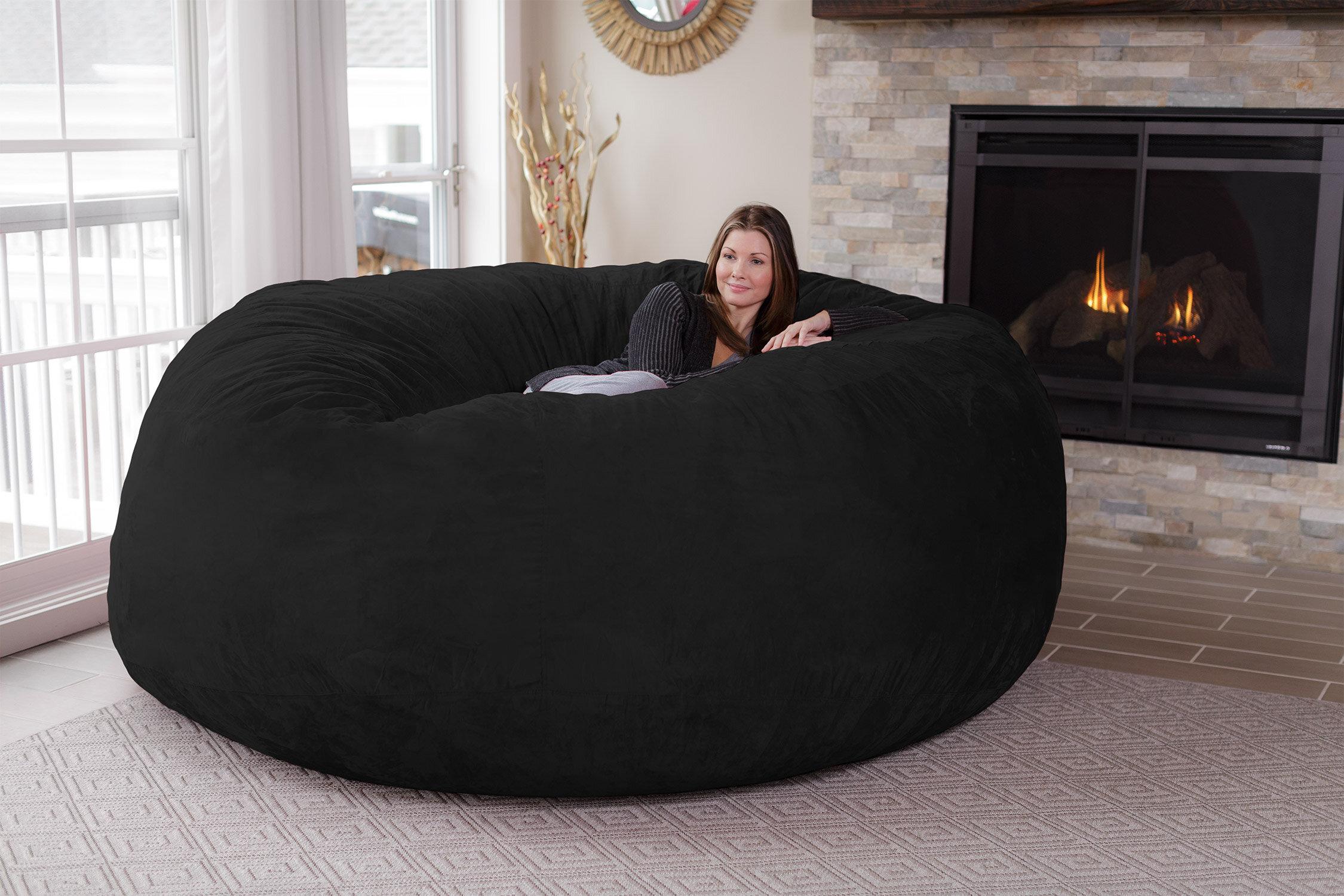 Merveilleux Latitude Run Extra Large Microsuede Bean Bag Sofa U0026 Reviews | Wayfair