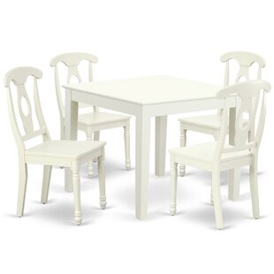 Krull 5 Piece Solid Wood Dining Set