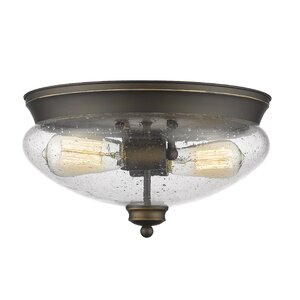 Casselman 2-Light Glass Shade Flush Mount