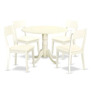 Spruill 5 Piece Drop Leaf Breakfast Nook Solid Wood Dining Set Today Sale Only