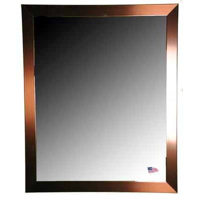 Brayden Studio Industrial Bronze Wall Mirror Size: 44 H x 38 W x 0.75 D