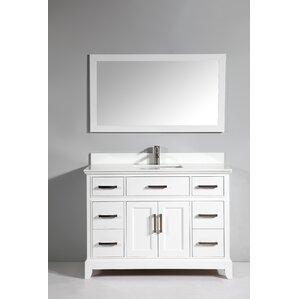 bathroom vanity single sink. Phoenix Stone 48  Single Bathroom Vanity with Mirror Vanities You ll Love Wayfair