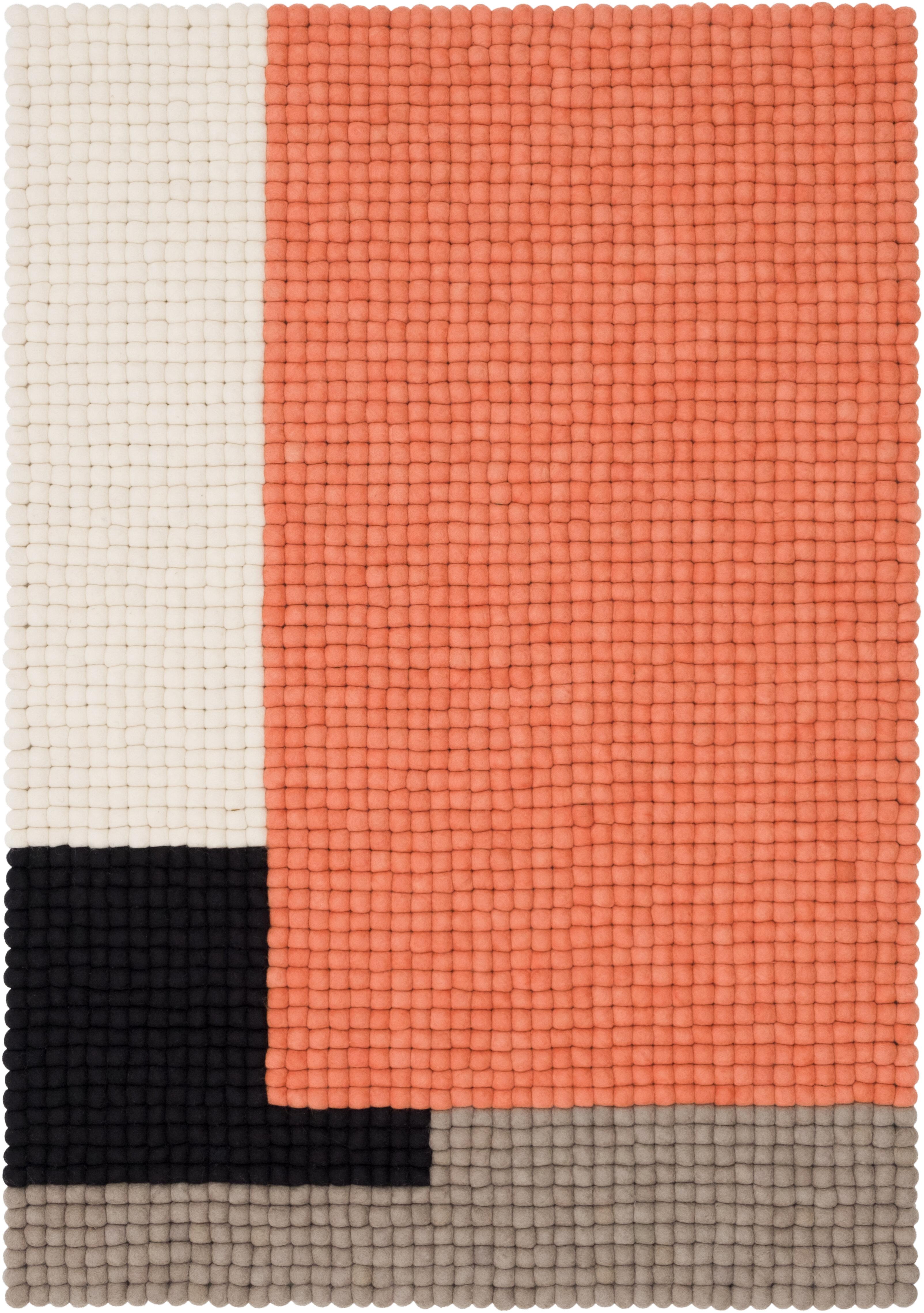 Myfelt Handgefertigter Teppich Cube In Orange Grau Schwarz Wayfair De