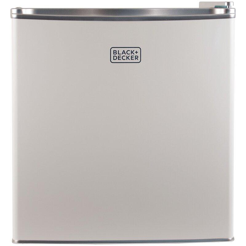 Black + Decker 1.7 cu. ft. Compact Refrigerator with Freezer  Color: White