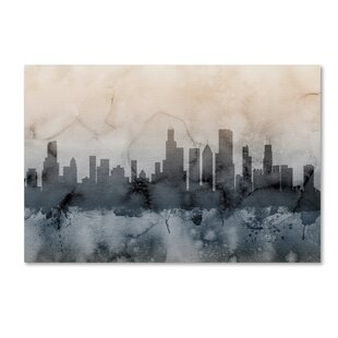 Modern contemporary new york city skyline wall art allmodern chicago illinois skyline v by michael tompsett graphic art on wrapped canvas altavistaventures Choice Image