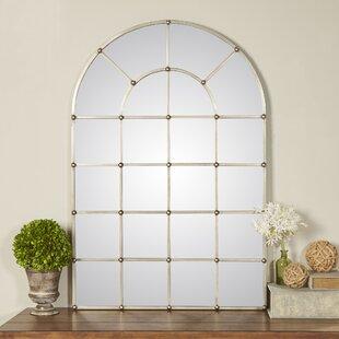 Metal Arch Window Wall Mirror & Cottage \u0026 Country Window Mirrors You\u0027ll Love | Wayfair