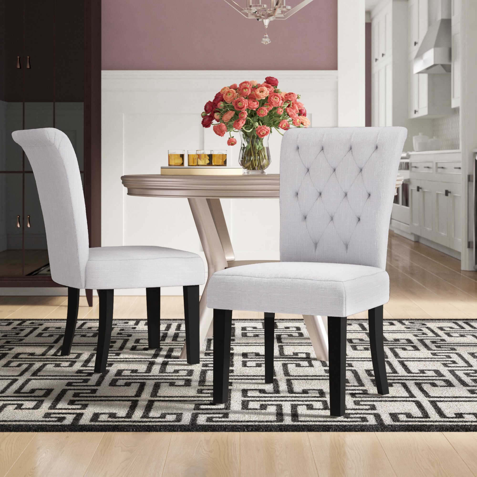 7d3b2979a9b3 Willa Arlo Interiors Brady Upholstered Dining Chair   Reviews