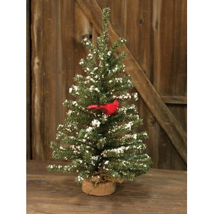 snowy german twig 24 artificial christmas tree with cardinal - German Christmas Decorations Wholesale