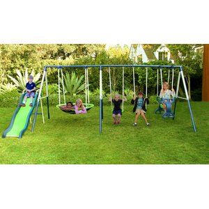 Rosemead Metal Slide and Swing Set