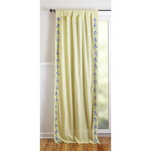Rod Pocket Window Single Curtain Panel (Set Of 2)