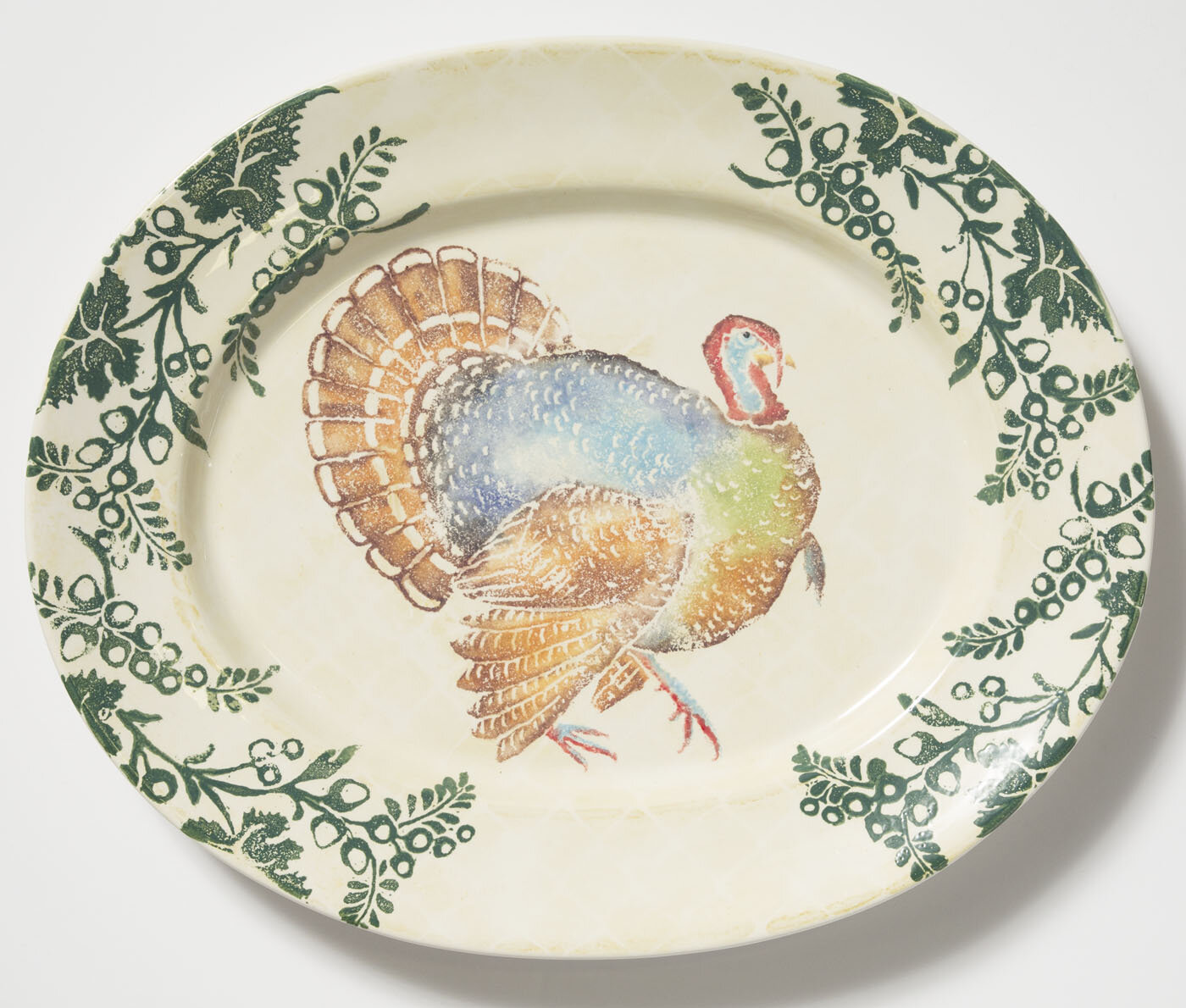 & VIETRI Gather Turkey Large Oval Decorative Plate | Wayfair
