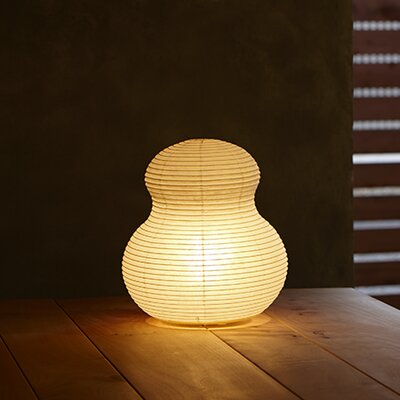 """Paper Gourd Moon 14"""" Table Lamp Asano"""