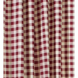 Check Plaid Red Curtains Drapes