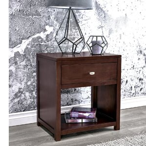 Erskine 1 Drawer Nightstand by Latitude Run