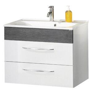 Fackelmann 80 cm Wandmontierter Waschtisch Sceno