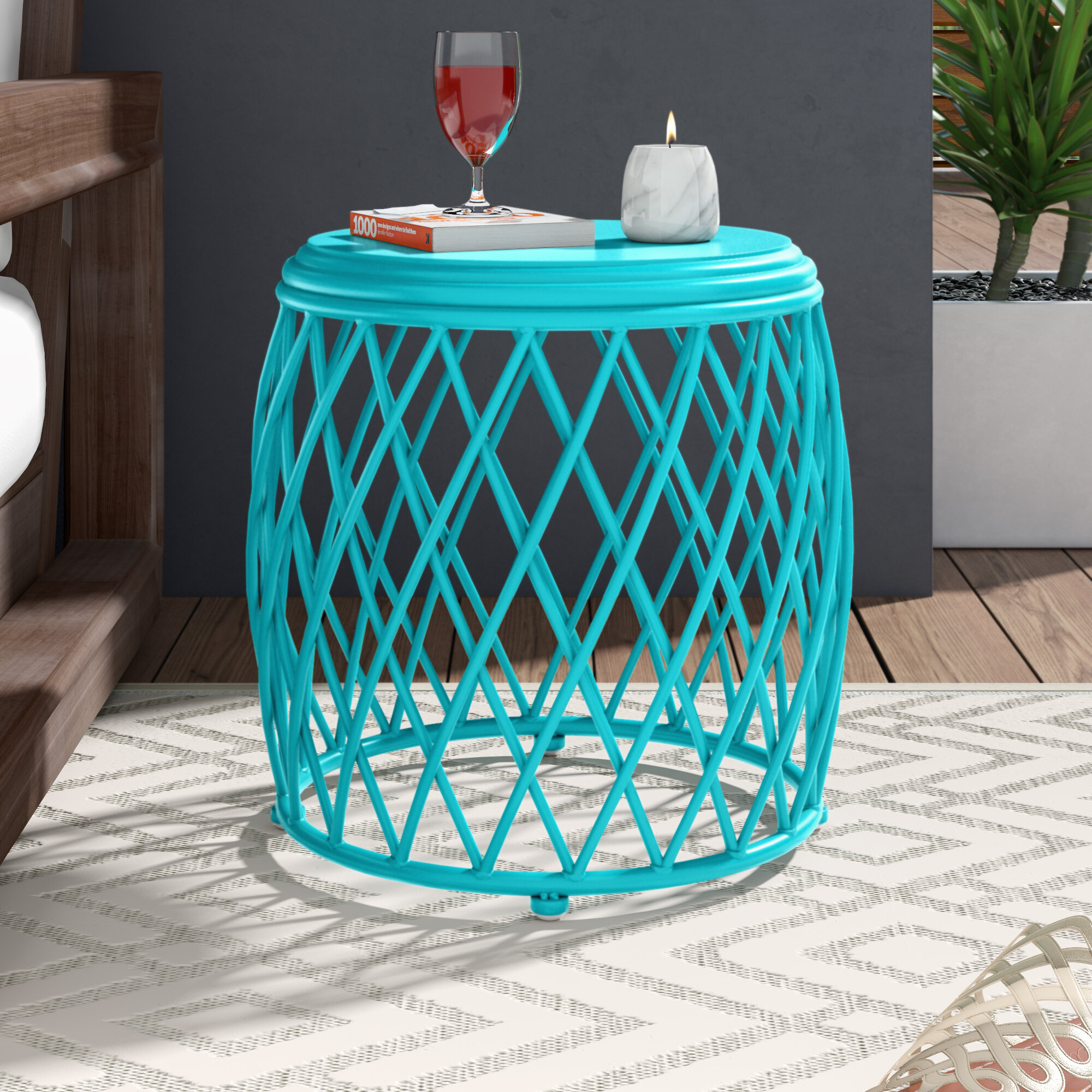Wrought Studio Ranallo Indoor Iron End Table Reviews Wayfair