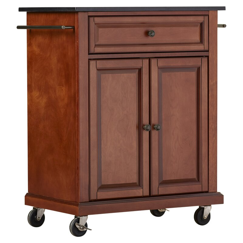 granite top kitchen cart