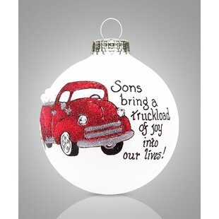 red truck with tree wayfair Chevy Truck Floor Pan Full son truck ball ornament
