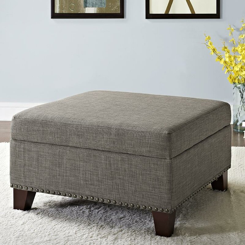 Robertsville Square Ottoman With Nailheads