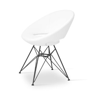 Crescent Side Chair in Leatherette-PPM - Bon..