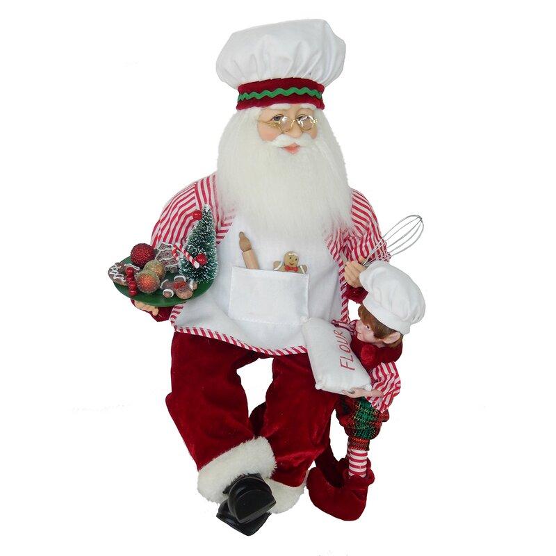 46cf917d25d7b Kurt Adler Kringle Klaus Bakery Santa with Elf Figurine