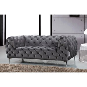 Riverside Chesterfield Loveseat by Everly Qu..