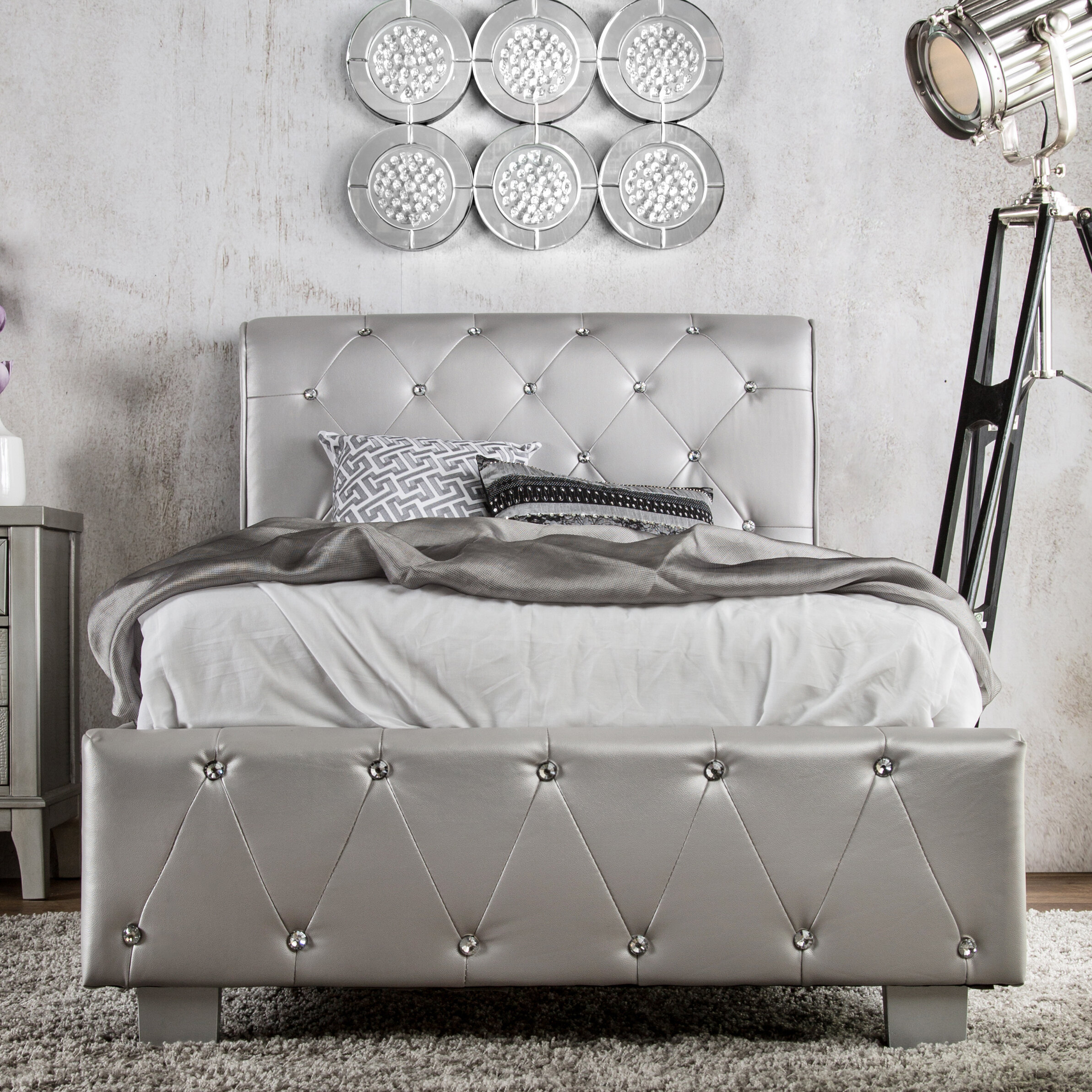 queen bernhardt miramont sleigh upholstered bed with item products number