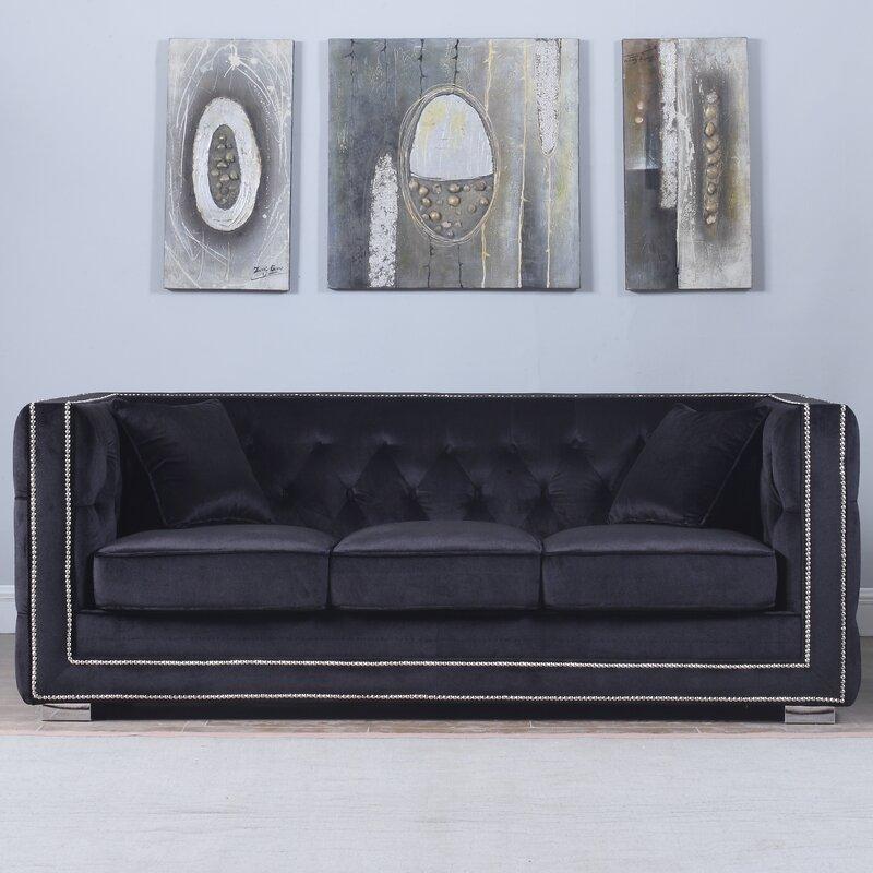 Rubio Modern Tufted Chesterfield Sofa Reviews Joss Main