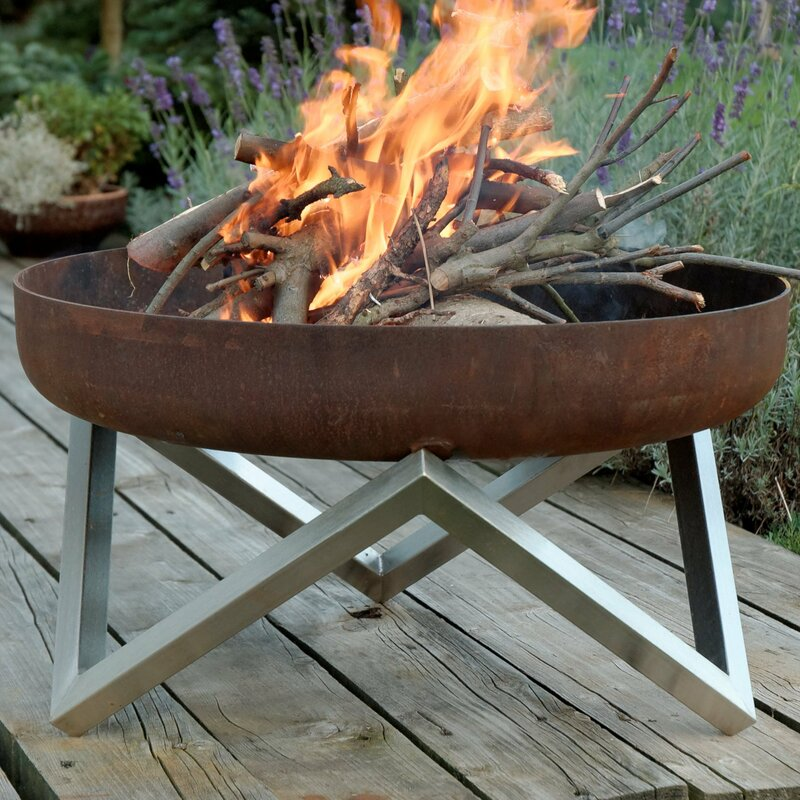 Memel Stainless Steel Wood Burning Fire Pit Amp Reviews