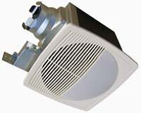 100 CFM Energy Star Bathroom Fan with Light/Nightlight
