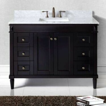 "Bathroom Cabinets On Sale virtu usa tiffany 48"" bathroom vanity cabinet & reviews 