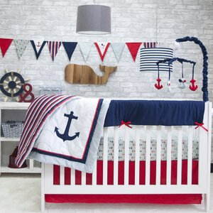 Nautical 6 Piece Crib Bedding Set