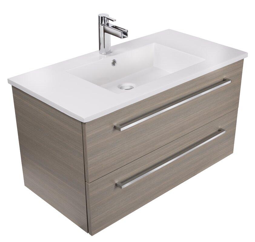 Silhouette 36 Single Bathroom Floating Vanity Set