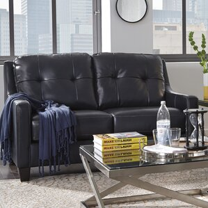 Stouffer Leather Loveseat by Red Barrel Studio