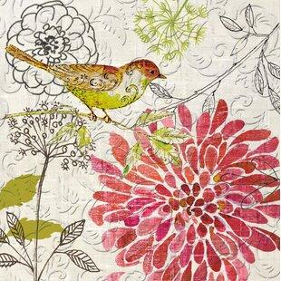 Floral paper napkins wayfair brendel sketch floral embossed paper luncheon napkin set of 20 mightylinksfo