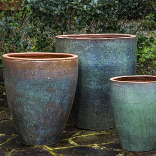 Extra Large Planter Pots You'll | Wayfair on large plant pots for trees, large potted plants, natural spring decorative plant containers, large outdoor glazed pots,