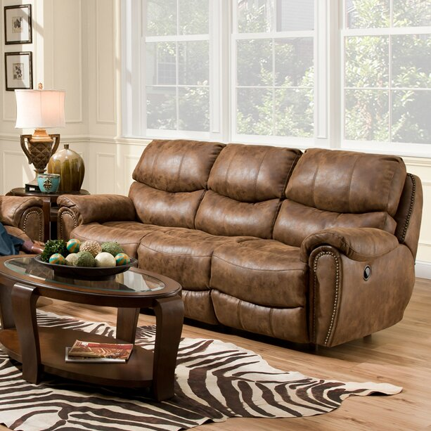 Carolina Leather Reclining Sofa Part 72