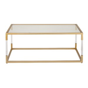 Metal And Glass Acrylic Coffee Table