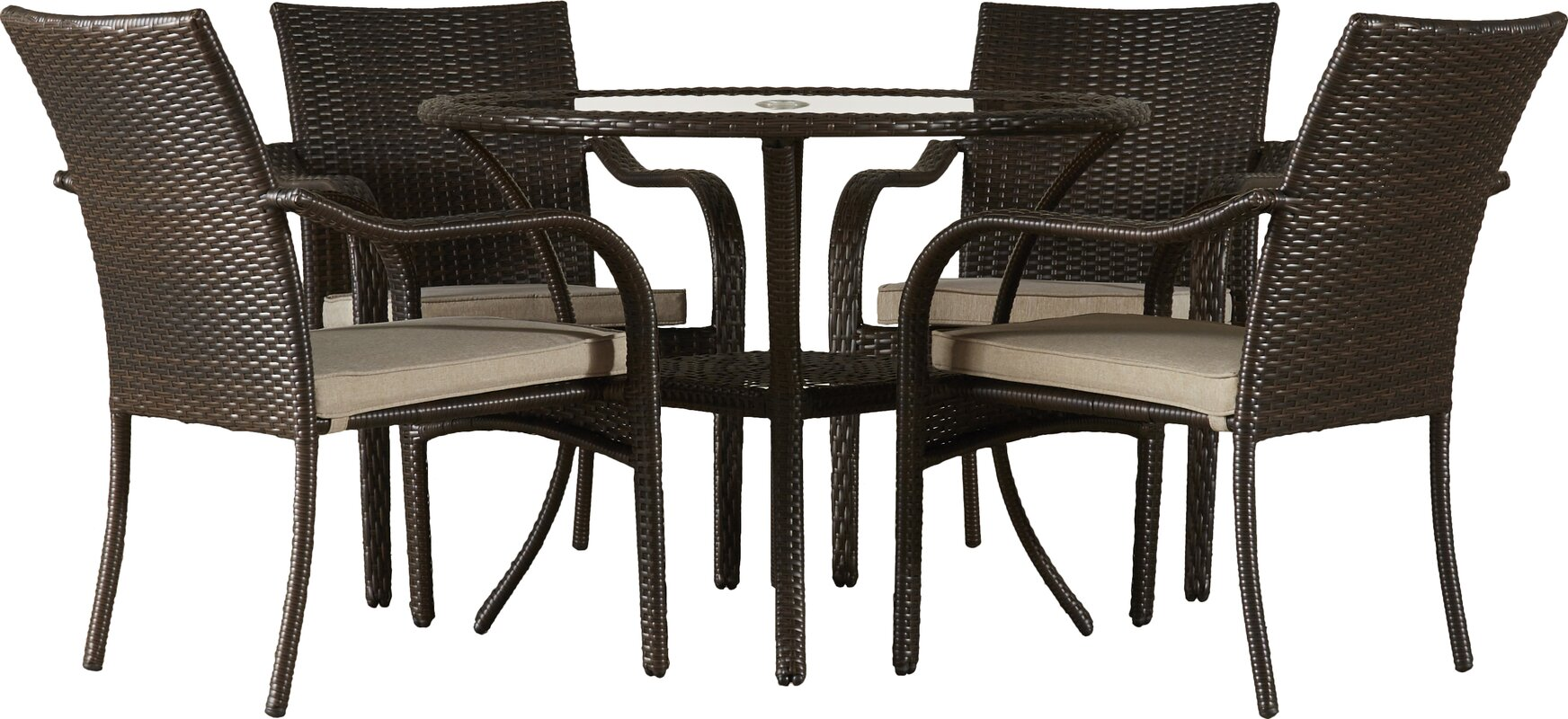 5-piece nia patio dining set & reviews | joss & main