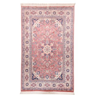 Atkinson Handwoven Wool Pink/Blue Rug by Parwis