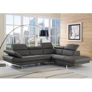 Gridley Leather Reclining Sectional by Wade Logan