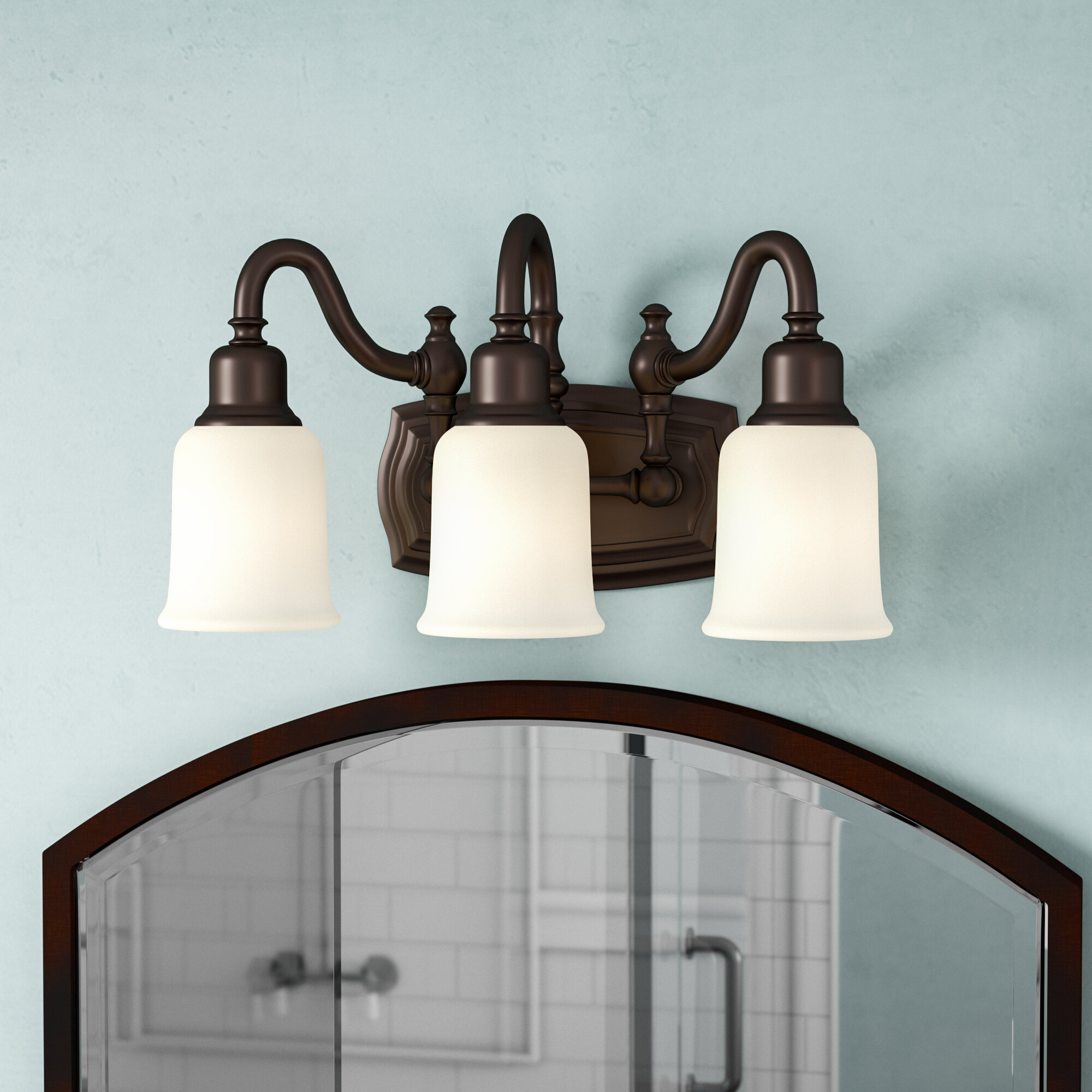 Three Posts Biggerstaff 3-Light Vanity Light & Reviews | Wayfair