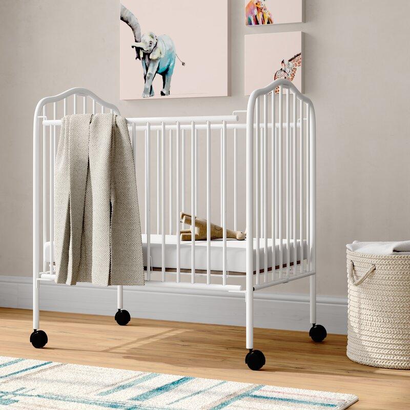 Viv Rae Fuqua Portable Folding Crib With Mattress