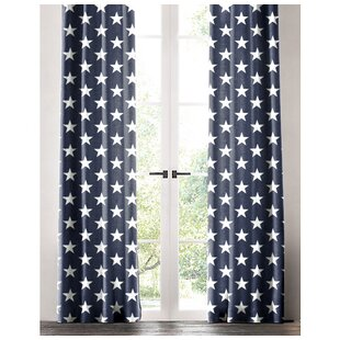 Jake Star Geometric Single Curtain Panel