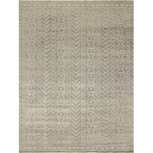 Bellview Hand-Knotted Gray/Green Area Rug
