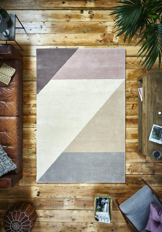 Handgefertigter Teppich Björnstjerne Aus Wolle In Pfirsich/Beige