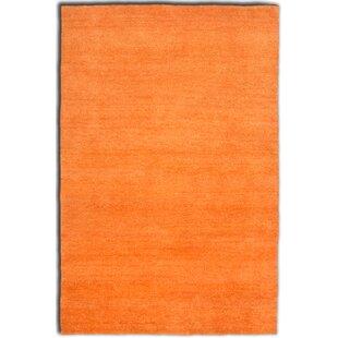 Delphos Handwoven Orange Rug by Longweave