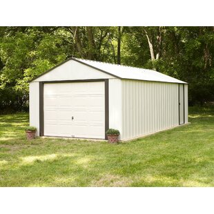 W X 16 Ft. 11 In. D Metal Garage Shed